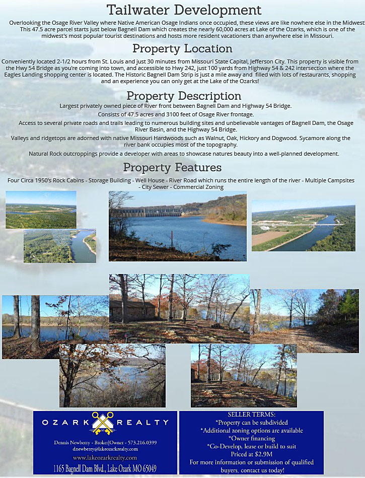 Osage River Resort Tailwater Development